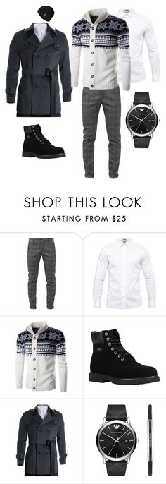 """Без названия #10"" by dowakinwowa on Polyvore featuring Dondup, Ted Baker, Lugz, Emporio Armani, men's fashion и menswear"