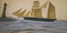 Alfred Wallis (1855-1942)  Two-Masted Ship circa 1928  Tate Collection, bequeathed by Doris Sealy 1975