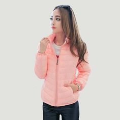 New Winter Women Parka Short Slim Thickening Down Cotton-padded Jacket - BoomPink
