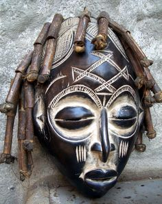 Chokwe-Tribal mask. African. I have one of these masks, and it scares everyone who comes into my house!