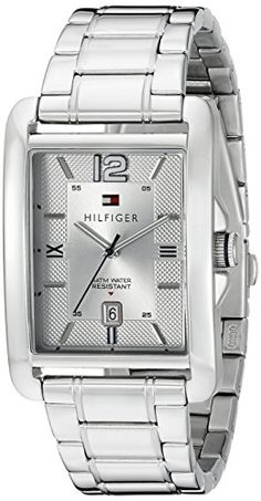 cd2d73e8 Amazon.com: Tommy Hilfiger Men's 1791201 Casual Sport Analog Display Quartz  Silver Watch: Watches