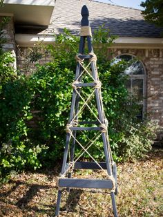 How to Build a Garden Obelisk --> http://www.hgtvgardens.com/diy-garden-projects/how-to-make-a-garden-obelisk?soc=pinterest