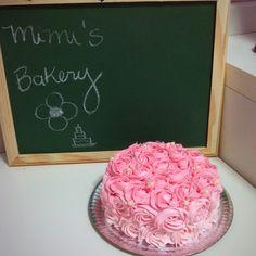 Rosette Ombré Cake in Pink   Bolo Rosette Degradê Rosa