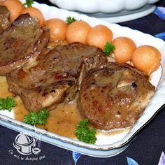 SZYNKA DUSZONA W SOSIE Orzo, Pork Recipes, Steak, Chicken, Food, Polish Food Recipes, Easy Meals, Essen, Eten