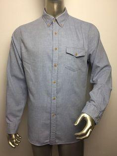 034c112d362f J.Crew Tailored Button Down Blue Shirt Mens Size Large