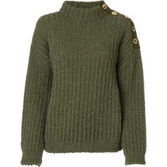Boutique Moschino chunky roll neck jumper ( 430) ❤ liked on Polyvore  featuring tops ed08cbdce