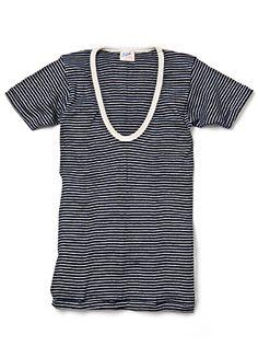 striped v neck shirt