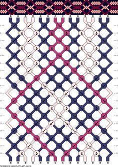 14 strings, 18 rows, 3 colors