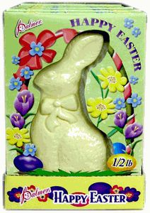 Solid Half Pound White Chocolate #bunny