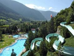 Giant hillside waterslide - Brigerbad, Switzerland. Yes, a must do before I die.
