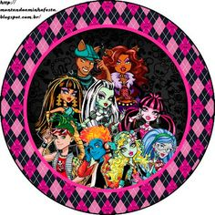 LARGE SET-- Montando a minha festa: Monster High