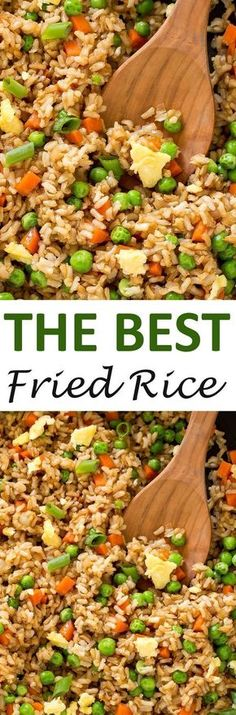The BEST Fried Rice. This fried rice is loaded with veggies and only takes 20 minutes to make! | http://chefsavvy.com #recipe #fried #rice #side #Chinese #takeout