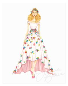 Lady Spring Art Print