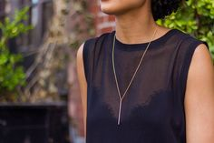 24 inch minimalist gold necklace