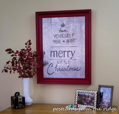 Postcards from the Ridge: Pottery Barn-Inspired Mercury Glass Holiday Wall Art