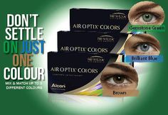 air optix colors rainbow pack Blue Air, Online Blog, Contact Lens, Colored Contacts, Color Mixing, Rainbow, Colors, Contact Lenses Color, Rainbows
