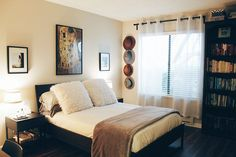 Here's Why You Should Love Your Small Space, Now - Darling Magazine Breakfast In Bed, Wood And Metal, Small Spaces, Color Schemes, Sweet Home, Bedroom, Inspiration, Furniture, Contentment