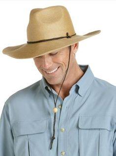 Coolibar wide brim straw sun hats Mens Sun Hats 5f0b6e4a499