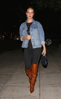 New mum Rosie Huntington-Whiteley steps out in  boots   Daily Mail Online