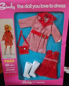 Vintage Pedigree Sindy BOXED Complete 1972 Trendy Girl Red Hot Outfit NRFB S248 in Dolls & Bears, Dolls, Clothing & Accessories, Fashion, Character, Play Dolls | eBay Sindy Doll, Trendy Girl, Childhood Toys, Hot Outfits, Old Toys, Barbie Clothes, Vintage Dolls, Fashion Dolls, Clothing Accessories