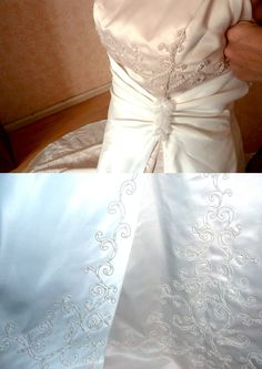 Belle robe de mariée taille 42-44 couleur ivoire et dorée Paris