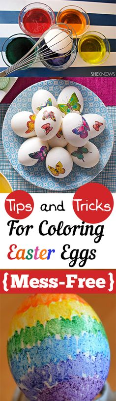 Tips and Tricks for Coloring Easter Eggs {Mess-Free}