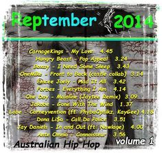 #Reptember 2014 - Volume 1 15 track internet album - audio - mp3 - tap to play - free downloads - #aussiehiphop  |  #AustralianHipHop  |  #nuerahiphop  |  #Reptember ft: Emcee Joely, Lush, Soul Benefits, One Day, Carnage Kings, Hungry Beast, Boxay, OneMike, Forbes, Jakobe, Marx SickMind, Lobe, Dona Li$a, Ante Omnia
