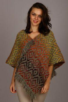 Izvorje - handwoven poncho