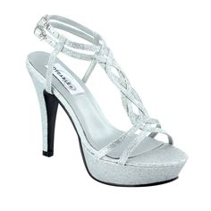 Silver or Gold Glitter Holiday Party Prom High Heel Strappy Platform Sandal Shoe #Stilettos