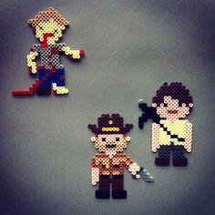 Zombie Killing Sheriff Perler Bead Character Magnet by HarmonArt2
