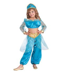 Look what I found on #zulily! Turquoise Arabian Princess Dress-Up Set - Girls #zulilyfinds