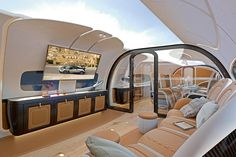 The Airbus x Pagani Infinito Jet Cabin Combines Comfort
