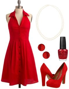 Wish I was confident enough to wear that bright a color while trying to walk in heels that tall. RED IS MY FAVORITE COLOR!