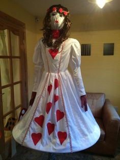 Queen of hearts scarecrow made for the Chelsea Flower Show, designed by school children