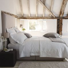 Modern Country Style: 50 AMAZING And Inspiring Modern Country Attic Bedrooms Click through for details. Attic Bedrooms, Home Bedroom, Modern Bedroom, Bedroom Decor, Modern Headboard, Bedroom Ideas, Bedroom Designs, Bedroom Inspiration, Dream Bedroom