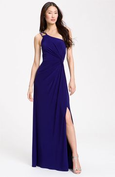 JS Boutique Knotted One Shoulder Dress available at #Nordstrom  (possible dress for mom to wear)