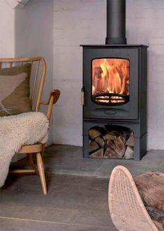Wood burning, multi-fuel & gas stoves Glasgow at Stove World Glasgow. We stock Charnwood & Contura stoves with live displays in our Glasgow stove showroom. Brick Fireplace Wall, Stove Fireplace, Wall Fireplaces, Fireplace Ideas, Fireplace Design, Inset Stoves, Wood Stoves, Solid Fuel Stove, Fireplaces