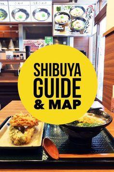 A detailed list of things to do in Shibuya, Tokyo, Japan.   Tokyo travel   Japan travel   Shibuya things to do   Shibuya food   Shibuya shopping   Hanamaru udon