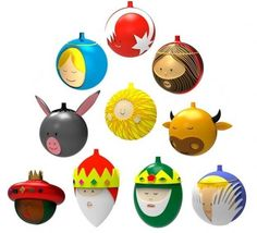 Alessi baubles. Loving Jesus's beard