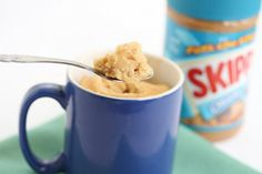 Peanut Butter Mug Cake (low-fat version)