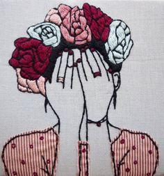 Frida Kahlo needlepoint art