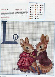 ... Beatrix Potter rabbits cross stitch pattern