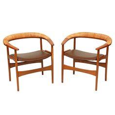 Pair of Arne Hovmand Olsen Armchairs 1