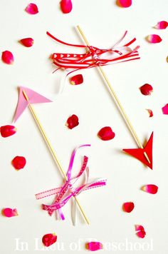 Cupid's Arrows craft for Valentine's Day.  How do you celebrate Valentines with kids?