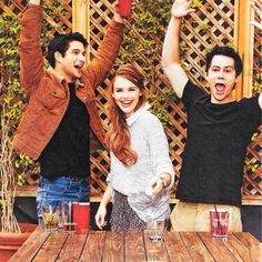 Tyler Posey, Holland Roden, and Dylan O'Brien