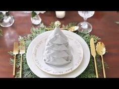 Napkin Folding Christmas Tree - How To Fold Napkins For The Holidays