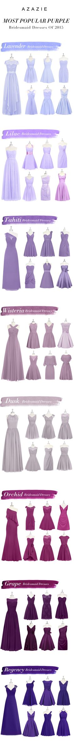 Most Popular Purple Bridesmaid Dresses By Azazie.