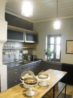 Overview of the kitchen of the Hotel Apeiros Chora in Central Zagori, Pindus