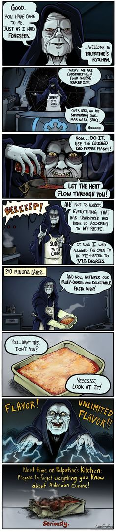 'Palpatine's Kitchen' - Star Wars Comic by Quad Force Five - EpicStream: