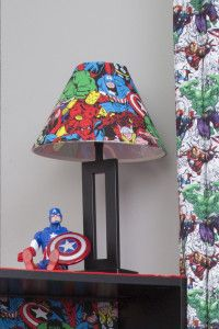46 Ideas For Kids Room Themes Lamp Shades Comic Themed Room, Avengers Bedroom, Marvel Room, Superhero Room, Kids Room Paint, Kids Room Organization, Kids Room Design, Baby Boy Rooms, Room Themes
